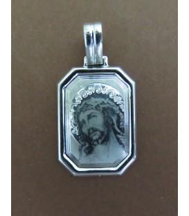 Medalha de prata com Face de Cristo n.º 3