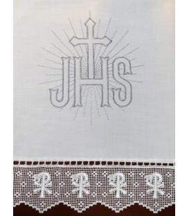 Toalha de Altar JHS - Prata