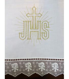 Toalha de Altar JHS - Dourado