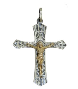 Cruz Prata Centenário Bicolor
