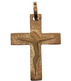Cruz Prata Dourada Estilizada