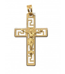 Cruz Ouro Bicolor Gradeada