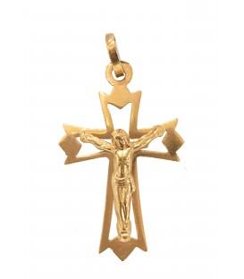 Cruz Ouro Efeito Estrela