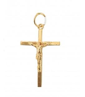 Cruz Ouro Quadrada Fina