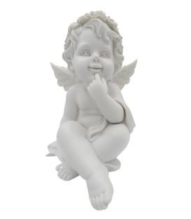 Anjo da Guarda Branco - Resina