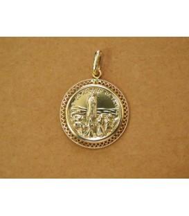 Medalha Redonda Trabalhada - Coroa