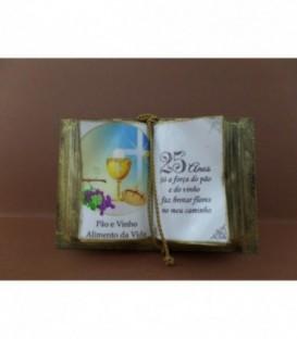 """Livro Decorativo - """"Bodas de Prata"""""""